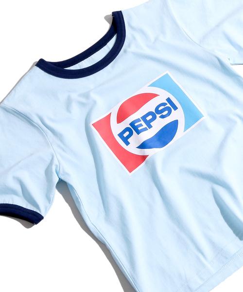 WEGO(ウィゴー)の「∴WEGO/PEPSI別注リンガーTシャツ(Tシャツ/カットソー)」|サックスブルー