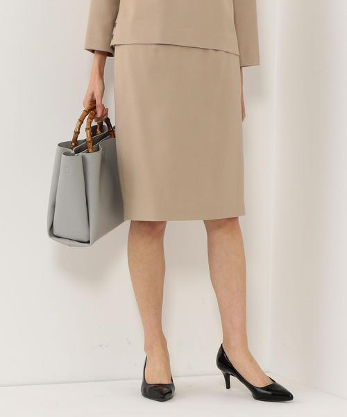 <closet story>□ブッチャー タックタイトスカート -手洗い可能-