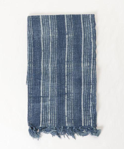 カヤ(カヤ)の「【カヤ】藍色綿ストール(ストール/スヌード)」|その他2