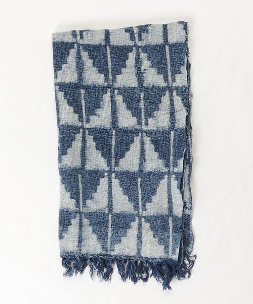 カヤ(カヤ)の「【カヤ】藍色綿ストール(ストール/スヌード)」|詳細画像