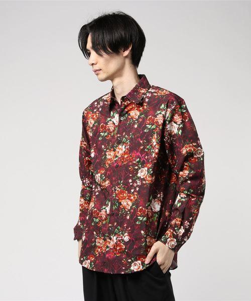 FLOWER PYTHON柄 レギュラーカラーシャツ