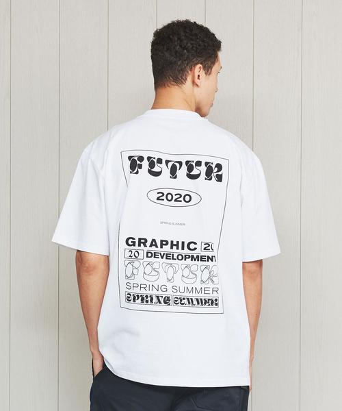 <FUTUR>MW G FIT Dr TYPO T-SHIRT/Tシャツ.