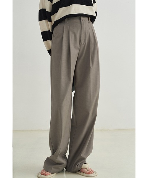 【Fano Studios】【2021AW】Double tuck wide suit pants FX21K084