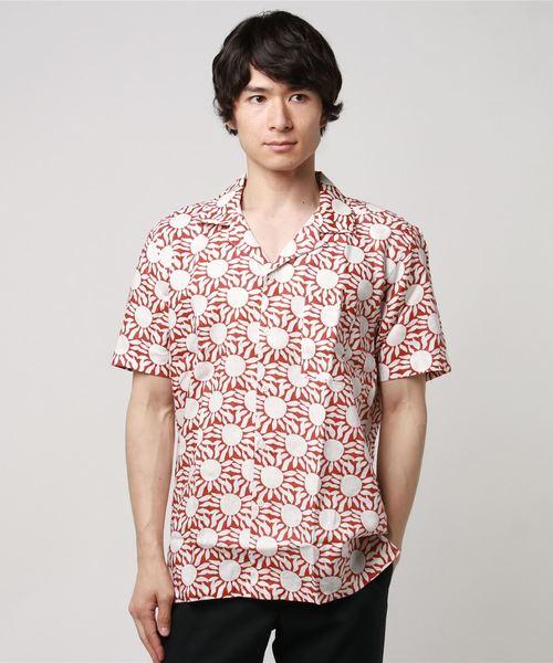 AFIELD(エーフィールド)の「サマーシャツ(シャツ/ブラウス)」|レッド