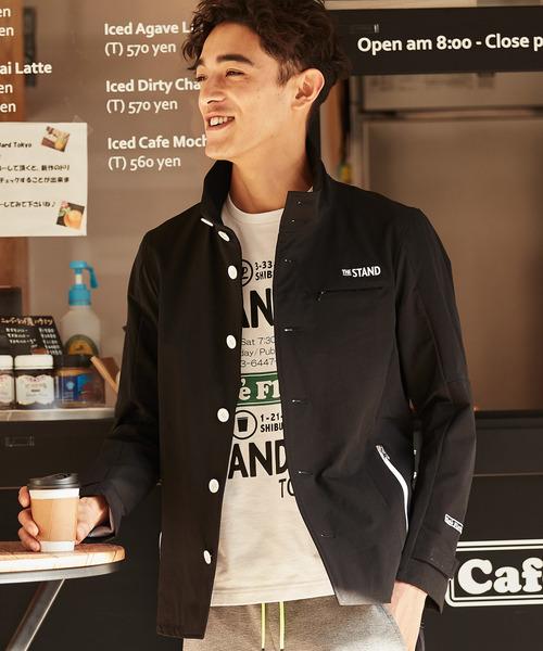 RATTLE TRAP(ラトルトラップ)の「THE STAND cafe Flattie別注 スタンドカラーブルゾン(ブルゾン)」|ブラック
