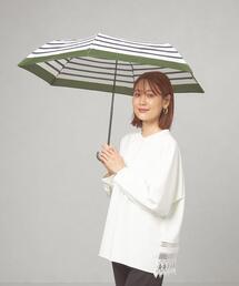 <because(ビコーズ)>リムカラー ボーダー 折りたたみ傘