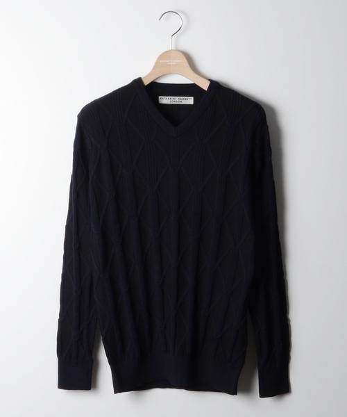 新到着 【セール】DIAMOND HAMNETT PLATING/ ダイヤプレーティング(ニット/セーター) KATHARINE HAMNETT HAMNETT LONDON PLATING (キャサリンハムネットロンドン)のファッション通販, 標津郡:bbc72fee --- hundeteamschule-shop.de