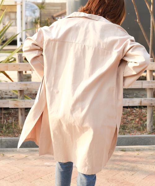 【Holiday】ドロップショルダーテンセルビッグジャケット