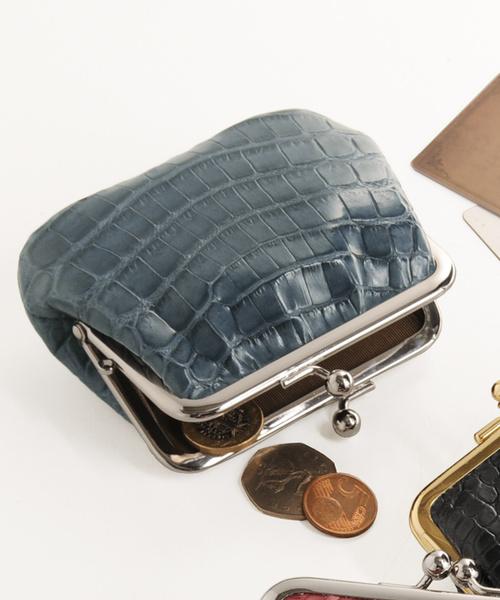 クロコダイルレザーがま口財布