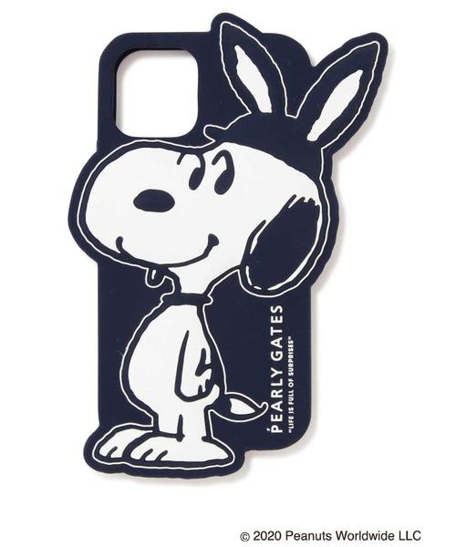 PEARLY GATES(パーリーゲイツ)の「【SNOOPY×PEARLY GATES】耳付きSNOOPY iPhone11 Pro case(スマホケース/カバー)」|ネイビー