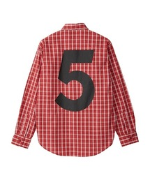 HYS No.5 レギュラーカラーシャツレッド