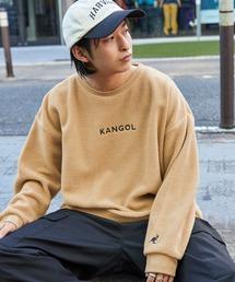 KANGOL(カンゴール)の▽WEB限定 MONO-MART×KANGOL ビッグシルエットボアクルーネックスウェット(スウェット)