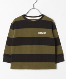 GLOBAL WORK(グローバルワーク)のキッズ【IN THE HOUSE】ボーダーT/824447(Tシャツ/カットソー)