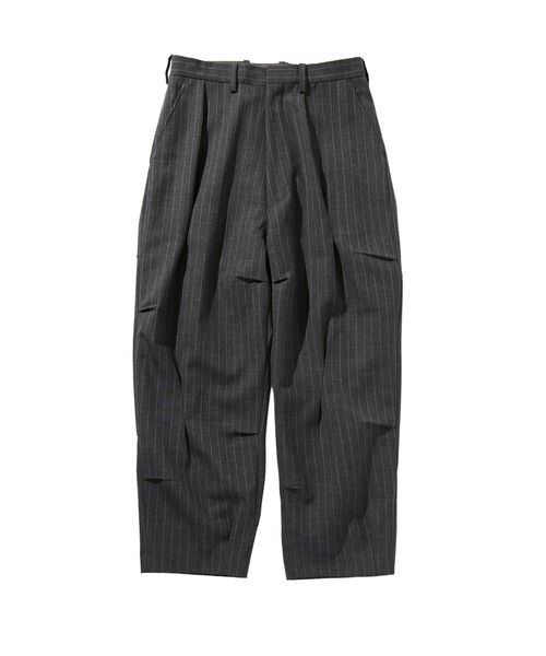 SPRING2020 RANDOM TACKED WIDE TAPERED PANTS