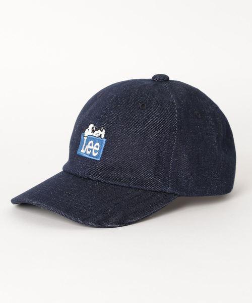 Lee(リー)の「Lee/リー/SNOOPY/PEANUTS/スヌーピー ピーナッツ キャップ帽子(キャップ)」|ネイビー