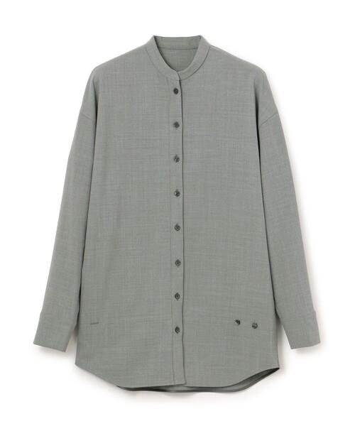 CAST:(キャスト)の「セットアップオーバーシャツ(シャツ/ブラウス)」|グレー