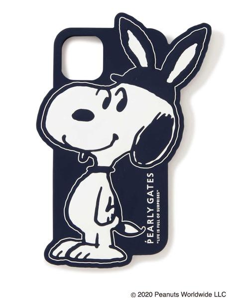 PEARLY GATES(パーリーゲイツ)の「【SNOOPY×PEARLY GATES】耳付きSNOOPY iPhone11 Pro Max case(スマホケース/カバー)」|ネイビー