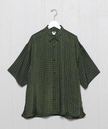 <H>CUPRA PRINT SQUARE CUT WIDE REGULAR SHIRT/シャツ