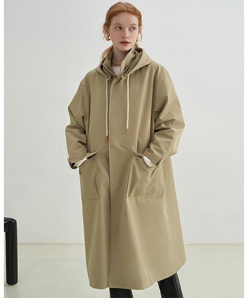 【Fano Studios】【2021AW】Hooded windbreaker long jacket FX21W022