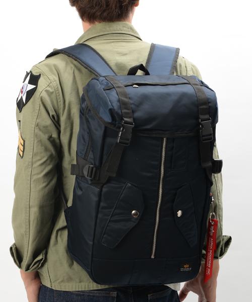 【ALPHA/アルファ】MA-1ジャケット デイパック