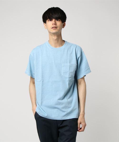 { JEMORGAN / ジェイイーモーガン } 製品染めポケット付きTシャツ