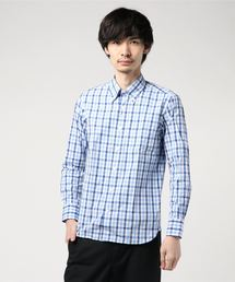 MACKINTOSH PHILOSOPHY(マッキントッシュ フィロソフィー)のダブルチェックポプリン ブリティッシュボタンダウンシャツ(シャツ/ブラウス)