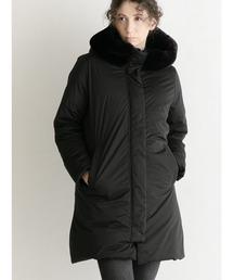 93fe0f0cbd516 YOSOOU(ヨソオウ)の「Eco Fur Big Hood Coat/エコファービックフード