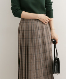 URBAN RESEARCH DOORS(アーバンリサーチドアーズ)のチェックプリーツスカート(スカート)
