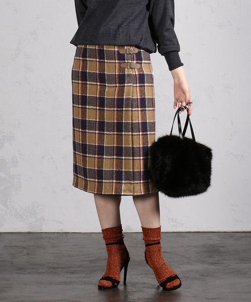 【国内即発送】 BEAMS LIGHTS / HARRIS TWEED ベルト付き スカート, サロン専売品の通販 かるみあ ca76f78a