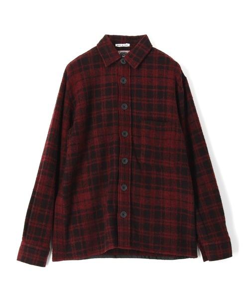 DESTIN / ウールカシミアチェックシャツ