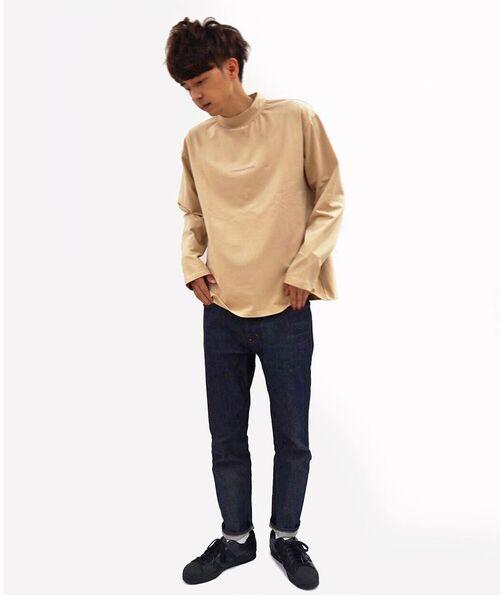 B'2nd(ビーセカンド)の「COMANDANTE(コマンダンテ)ローマ字ロゴモックネックロンT / ロングスリーブTシャツ / cmnb2d(Tシャツ/カットソー)」|ベージュ