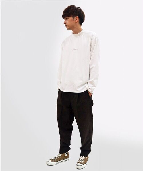 B'2nd(ビーセカンド)の「COMANDANTE(コマンダンテ)ローマ字ロゴモックネックロンT / ロングスリーブTシャツ / cmnb2d(Tシャツ/カットソー)」|ホワイト