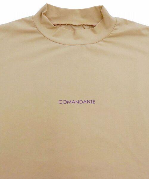 B'2nd(ビーセカンド)の「COMANDANTE(コマンダンテ)ローマ字ロゴモックネックロンT / ロングスリーブTシャツ / cmnb2d(Tシャツ/カットソー)」|詳細画像