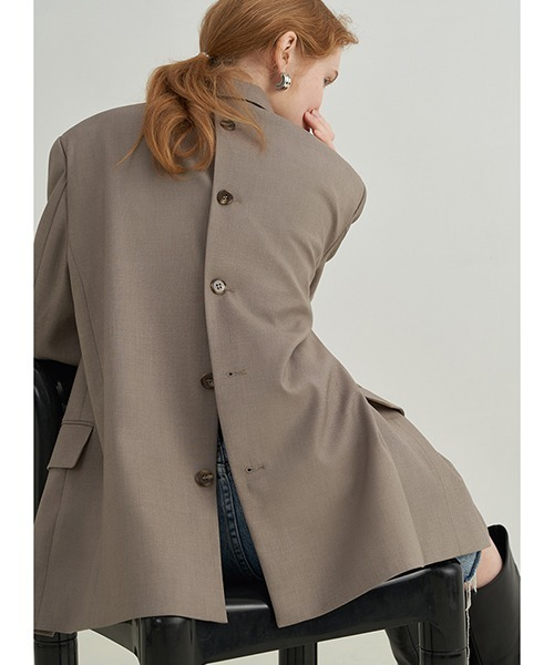 【Fano Studios】【2021AW】Back button tailored jacket FX21W011