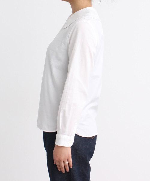 ●100/2ブロード ピーターパンカラー長袖ブラウス