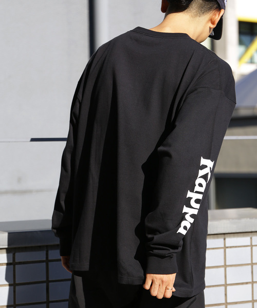 WEB限定 Kappa×FREAK'S STORE/カッパ 別注ビッグシルエット 袖プリント ロンT/長袖Tシャツ