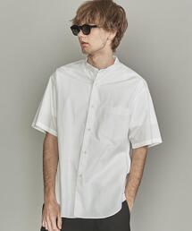 【WEB限定】 by ブロード バンドカラー ワイドフォルム ショートスリーブシャツ