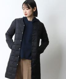 【 TAION / タイオン 】Vネックロングダウンジャケット TAION-W101-LONG‥ブラック
