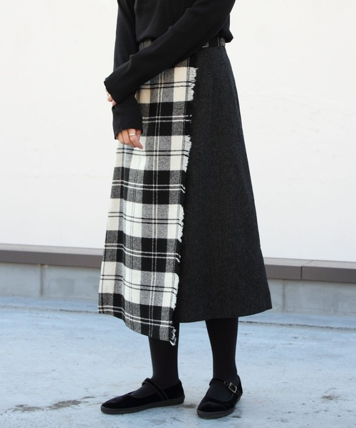 O'NEIL of DUBLIN/オニールオフダブリン ラップフレアスカート WRAP FLARED SKIRT #807