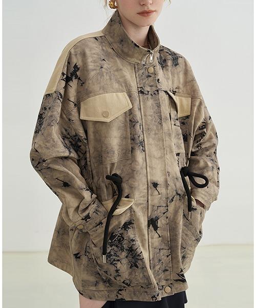 【Fano Studios】【2021AW】Tie Dye stand collar trench coat FX21W023