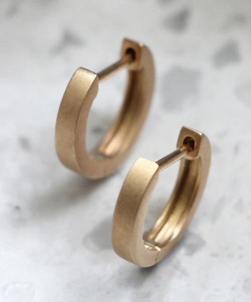 JUPITER(ジュピター)の「【K10】gold straightフープピアス(ピアス(両耳用))」|ゴールド系その他