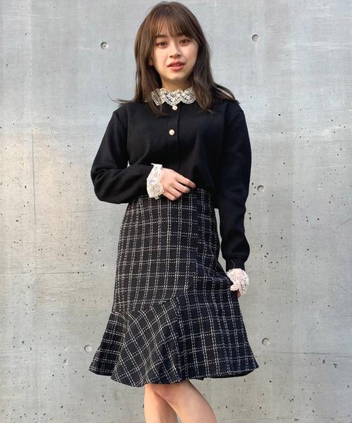 【titty&Co.PETIT】チェックマーメイドスカート