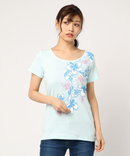 【kahiko】プルメリアフライスTシャツ Lサイズ