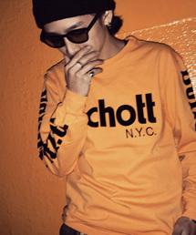 schott(ショット)のSchott/ショット/LONGSLEEVE T-SHIRT BASIC SCHOTT LOGO/ショット ロゴ(Tシャツ/カットソー)