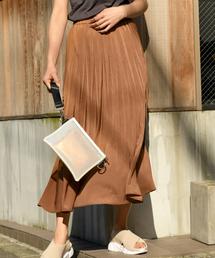 BAYFLOW(ベイフロー)のカラープリーツスカート(スカート)