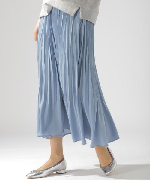 BAYFLOW(ベイフロー)の「カラープリーツスカート(スカート)」 ブルー