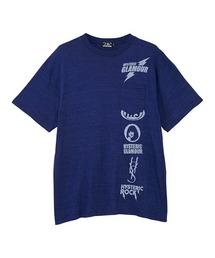 SCRATCH LINE オーバーサイズポケット付きTシャツネイビー
