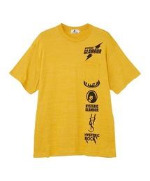SCRATCH LINE オーバーサイズポケット付きTシャツイエロー