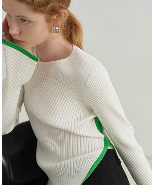 【Fano Studios】【2021AW】Contrast piping rib knit FX21S286