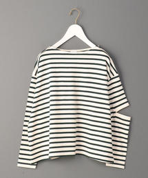 <6(ROKU)>BORDER SLIT SLEEVE PULLOVER/プルオーバー